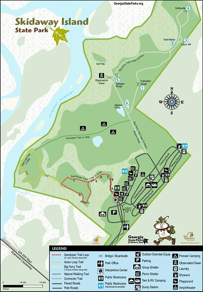 Skidaway Island State Park (Trail Map)