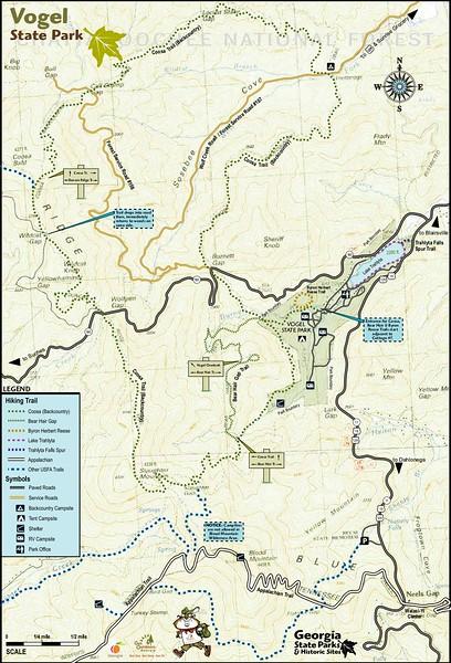 Vogel State Park (Trail Map)