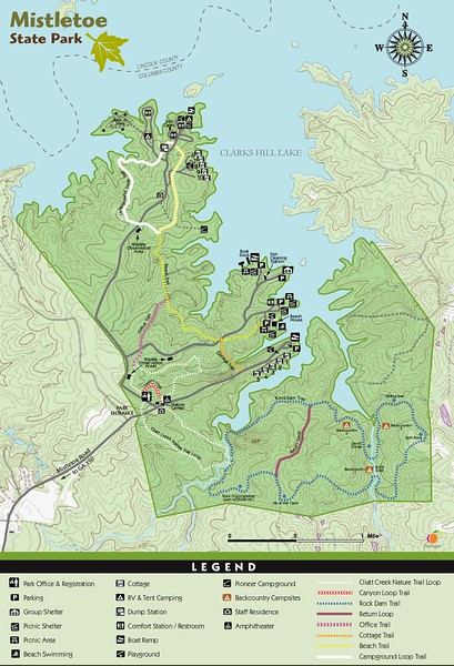 Mistletoe State Park (Trail Map)