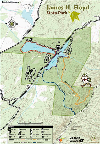 James H. Floyd State Park (Trail Map)