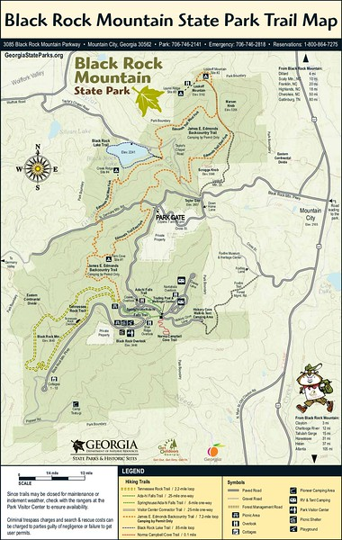 Black Rock Mountain State Park (Trail Map)