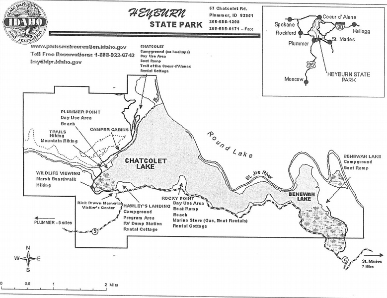 Heyburn State Park (Campground Location Map)