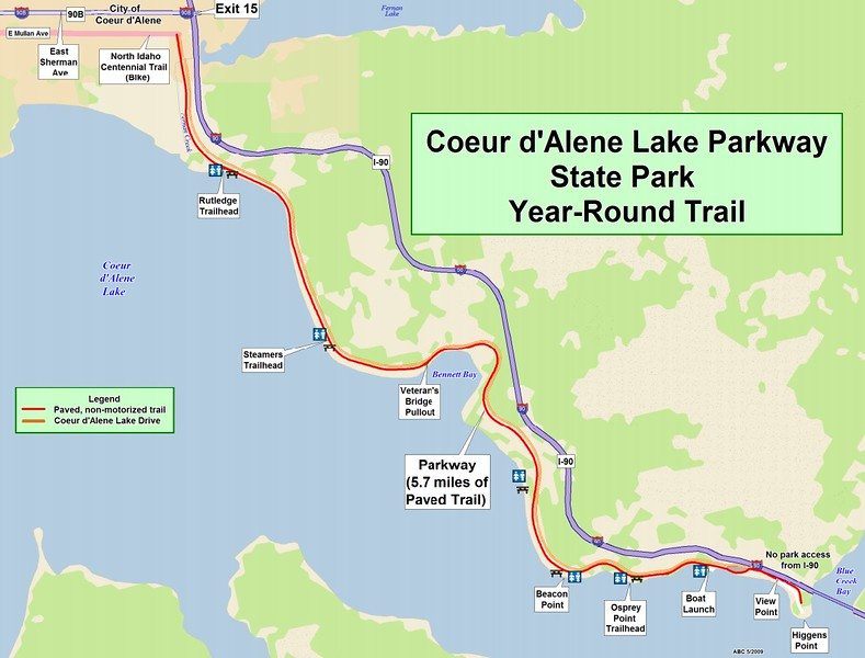 Coeur d'Alene Lake Parkway State Park