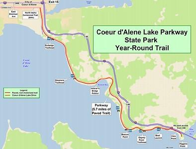 Coeur d'Alene Lake Parkway State Park