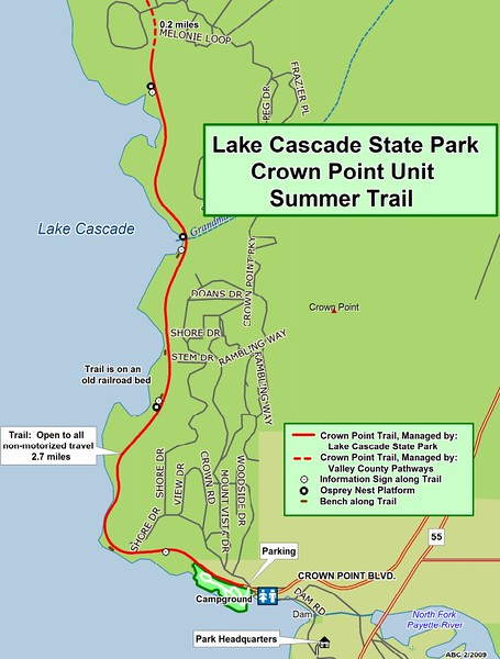 Lake Cascade State Park (Crown Point Unit Trails)