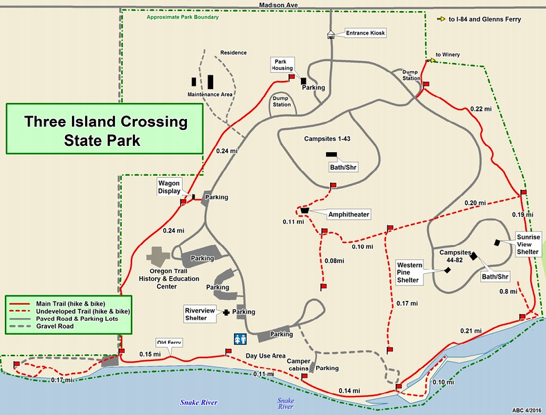 Three Island Crossing State Park