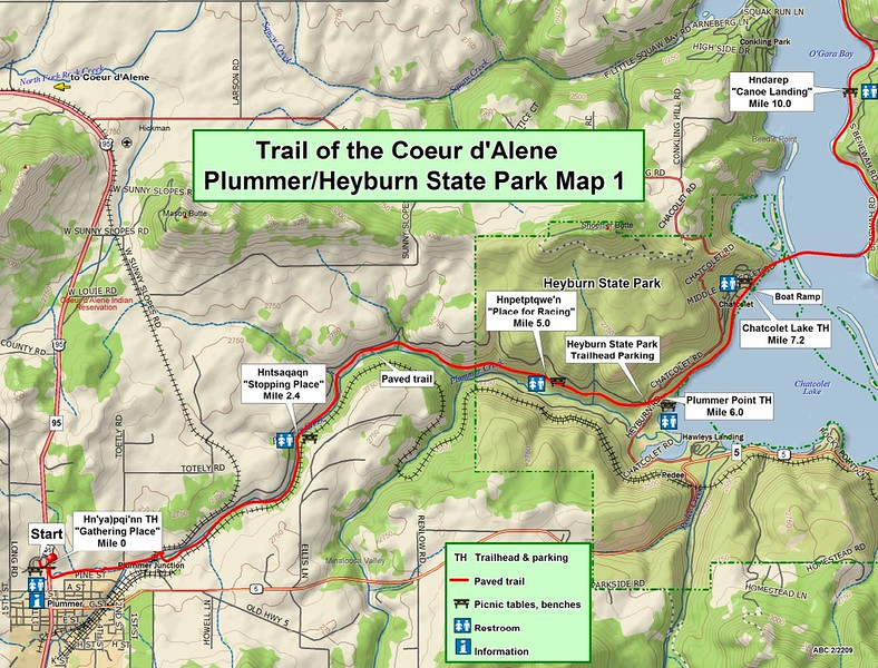 Trail of the Coeur d'Alene's State Park (Section #1)