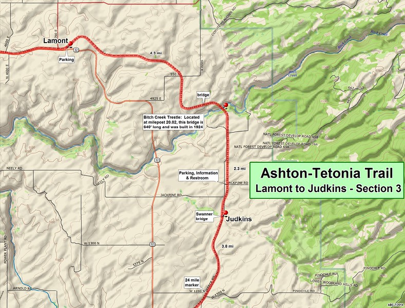 Ashton to Tetonia Trail (Section #3 Map)