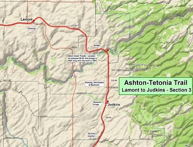 Ashton to Tetonia Trail (Section #3 Map)