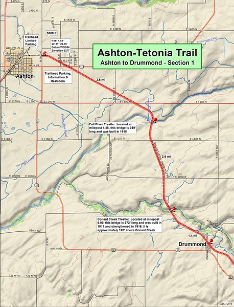 Ashton to Tetonia Trail (Section #1 Map)