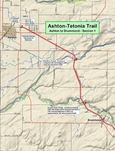 Ashton to Tetonia Trail (Section #1 Map)