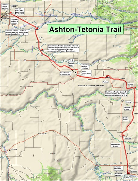 Ashton to Tetonia Trail