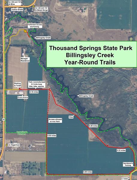 Thousand Springs State Park -- Billingsley Creek Unit