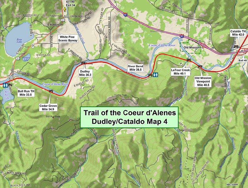 Trail of the Coeur d'Alene's State Park (Section #4)
