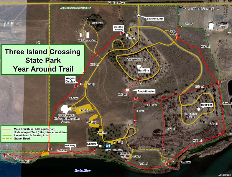 Three Island Crossing State Park (Trail Map)