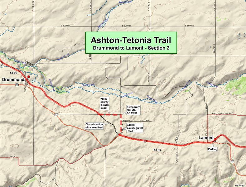 Ashton to Tetonia Trail (Section #2 Map)