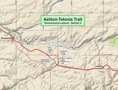 Ashton to Tetonia Trail (Section #2 Map)