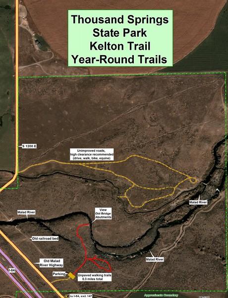 Thousand Springs State Park -- Kelton Trail Unit