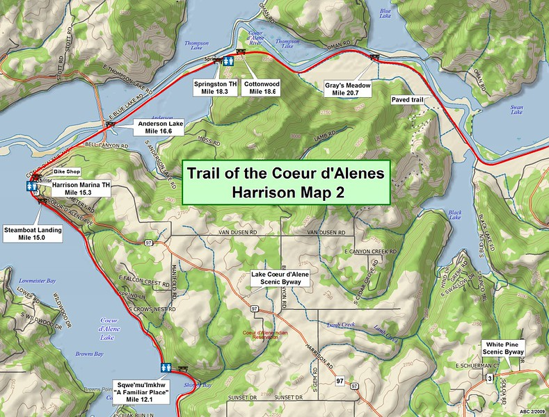 Trail of the Coeur d'Alene's State Park (Section #2)