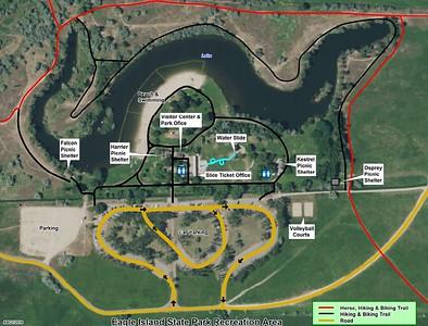 Eagle Island State Park (Recreation Area Map)