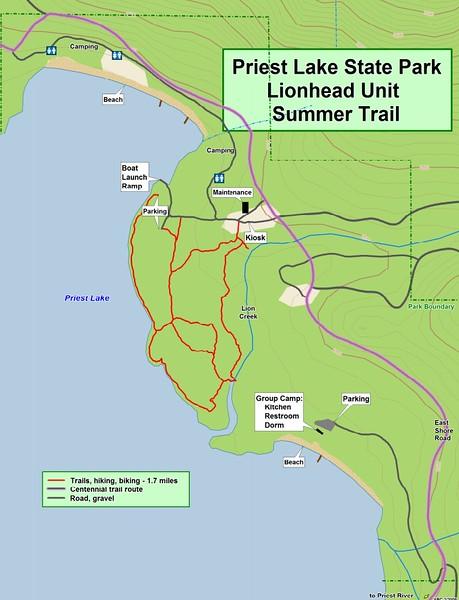 Priest Lake State Park -- Lionhead Unit