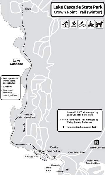 Lake Cascade State Park (Winter Trails-Crown Point Unit)