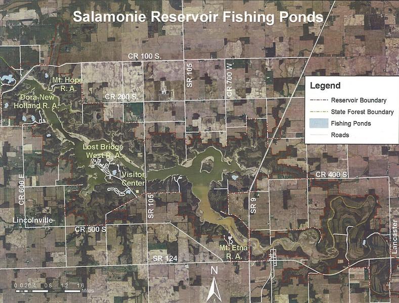 Salamonie Lake (Fishing Ponds Map)