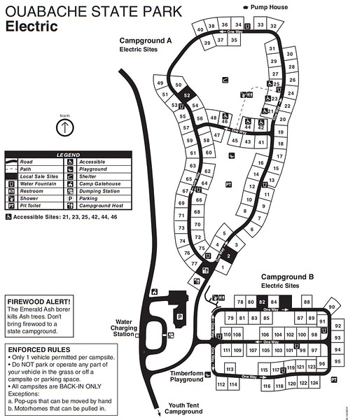 Ouabache State Park (Campground Map)