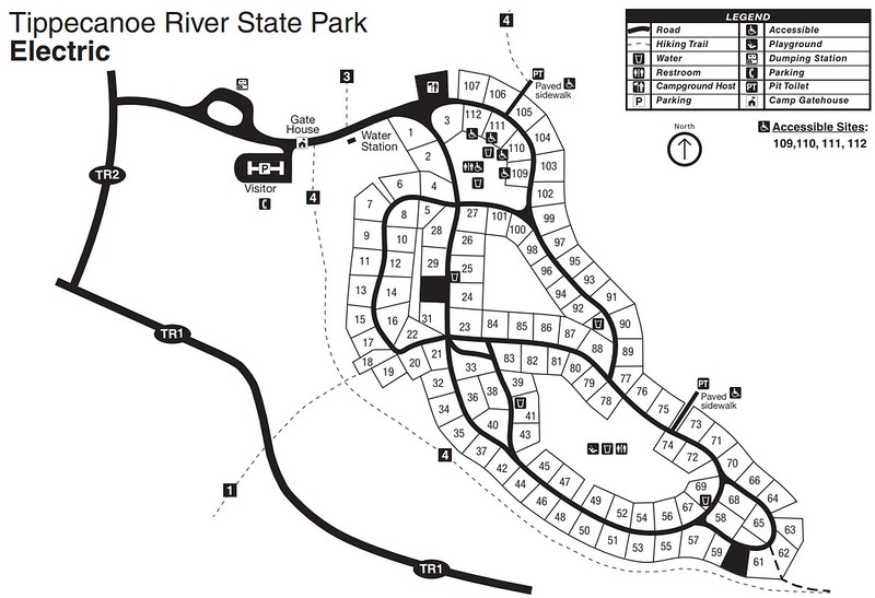 Tippecanoe River State Park (Campground Map)