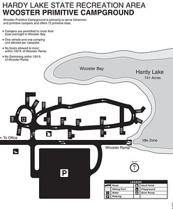 Hardy Lake State Recreation Area (Wooster Primitive Campground)