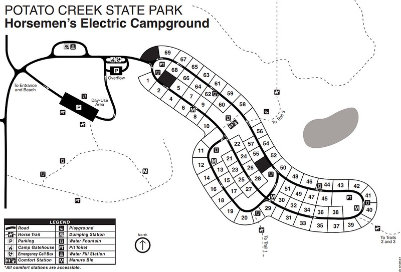 Potato Creek State Park (Horsemen's Campground)