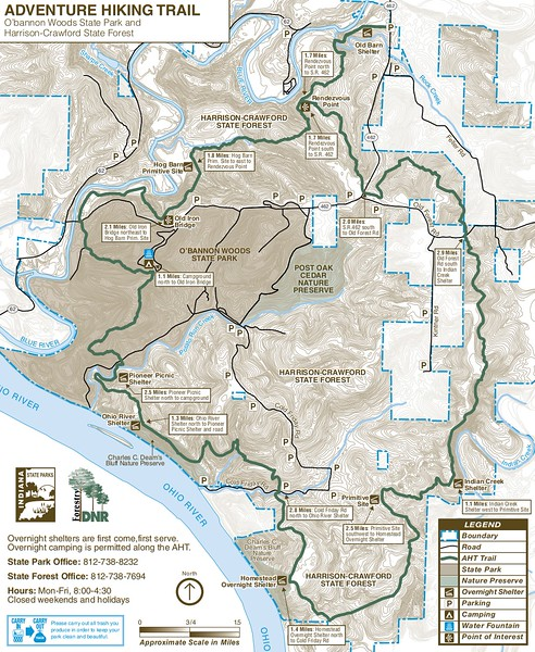 O'Bannon Woods State Park (Adventure Hiking Trail)