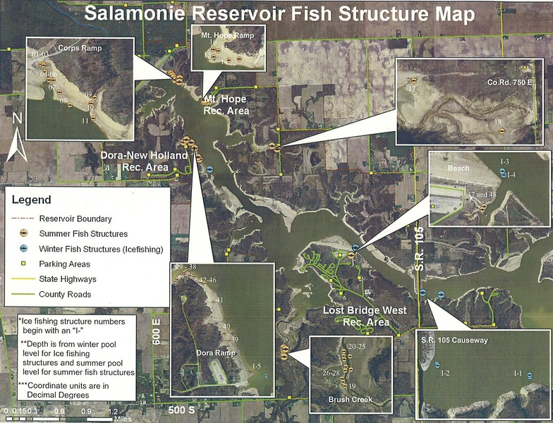 Salamonie Lake (Fishing Structures Map)