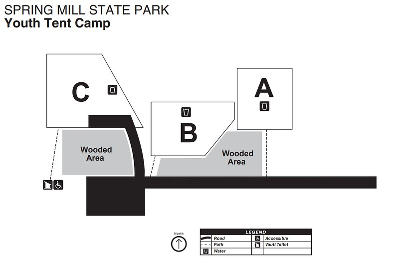 Spring Mill State Park (Youth Tent Map)