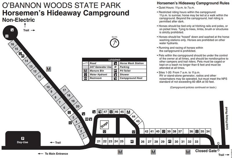 O'Bannon Woods State Park (Horsemen's Hideway Campground)