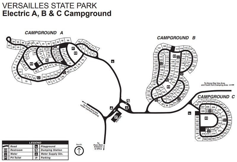Versailles State Park (Campground Map)