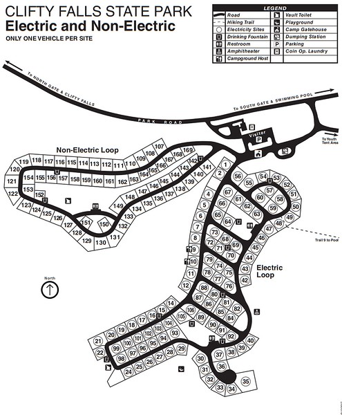 Clifty Falls State Park (Campground Map)