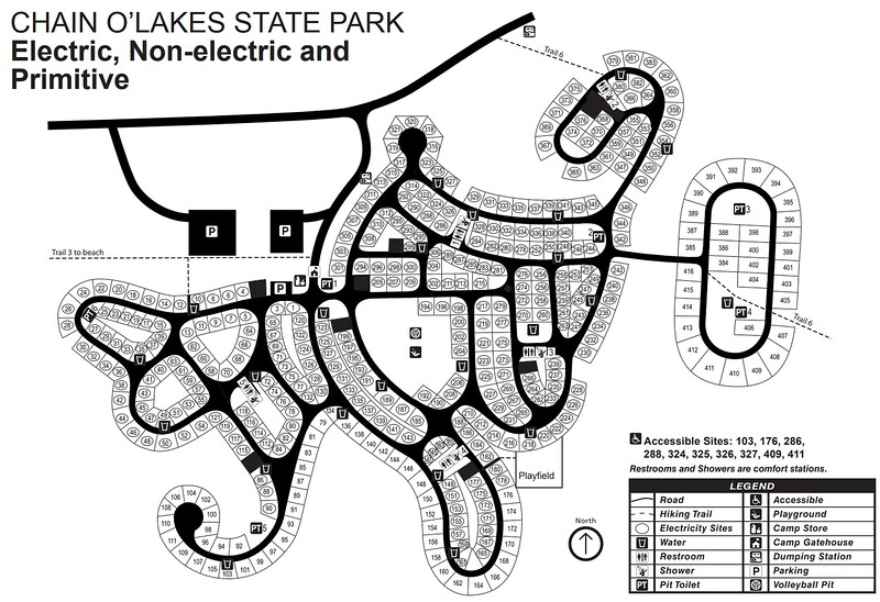 Chain O' Lakes State Park (Campground Map)