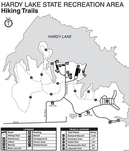 Hardy Lake State Recreation Area (Trail Map)