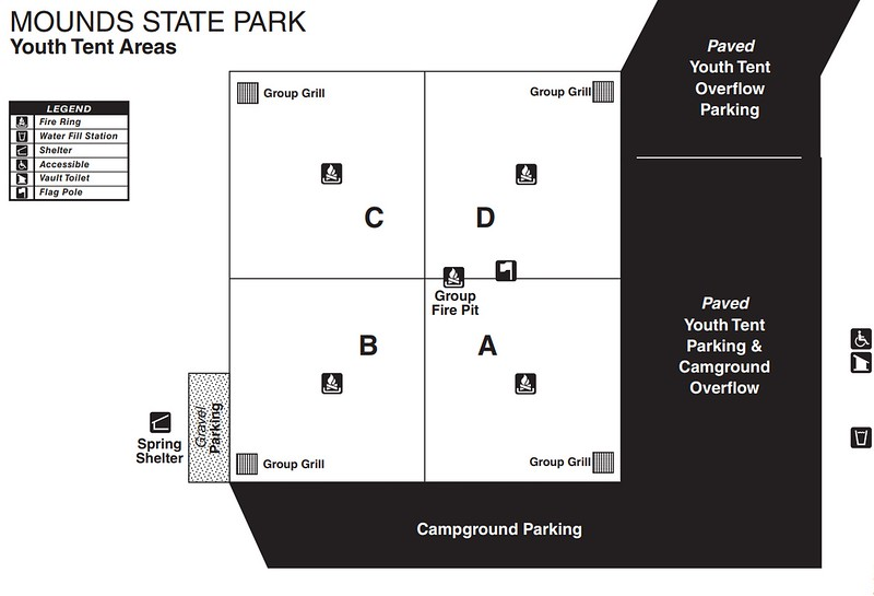 Mounds State Park (Youth Tent Areas)
