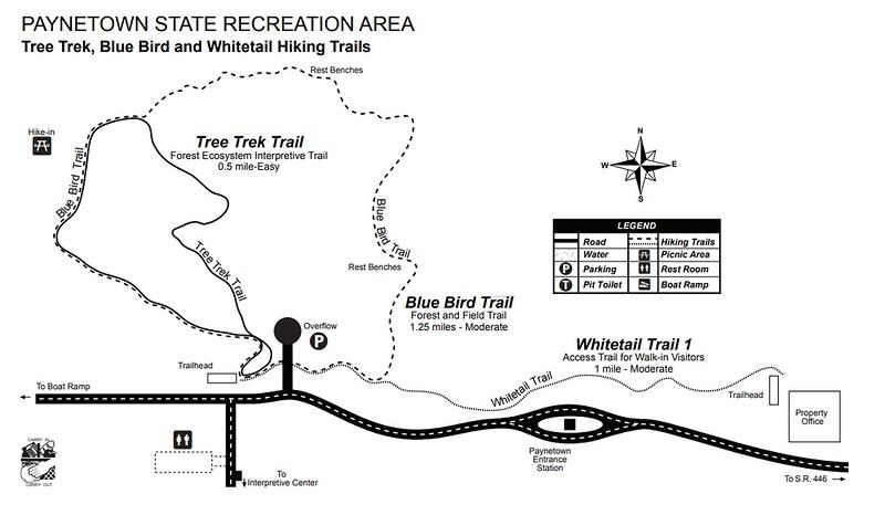 Monroe Lake (Paynetown SRA Trail Map)