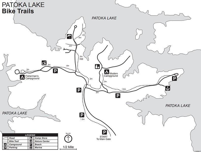 Patoka Lake (Bike Trail Map)