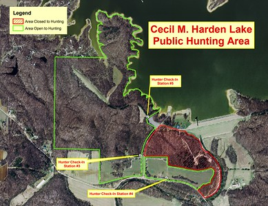 Cecil M. Harden Lake & Raccoon State Recreation Area (Hunting Area Map)