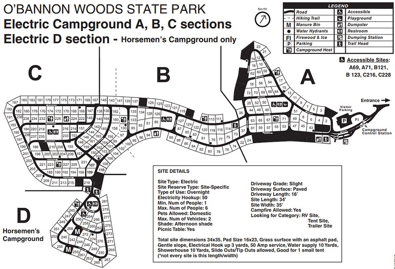 O'Bannon Woods State Park (Campground Map)