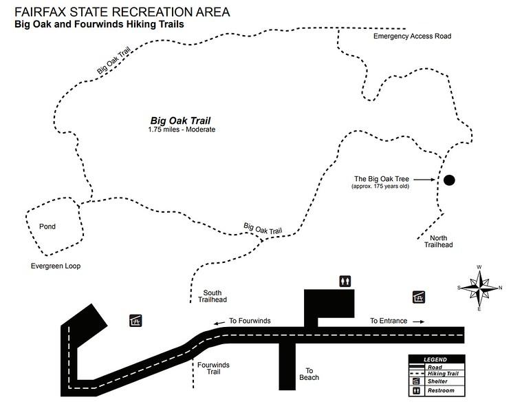 Monroe Lake (Fairfax SRA Trail Map)
