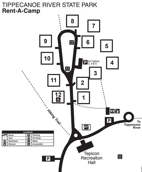 Tippecanoe River State Park (Rent-A-Camp Map)