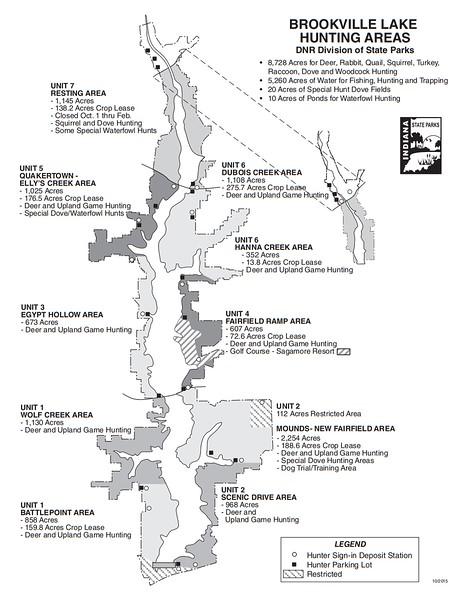 Brookville Lake (Hunting Areas)