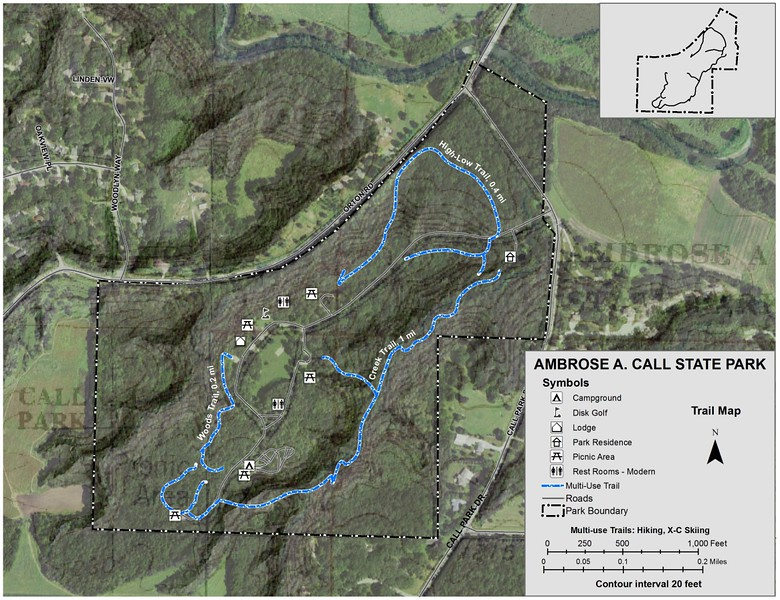 Ambrose A. Call State Park (Trail Map)