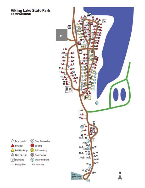 Viking Lake State Park (Campground Map)