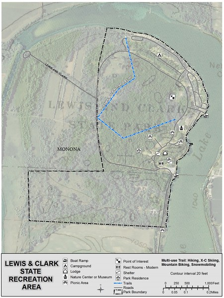 Lewis and Clark State Park (Trail Map)